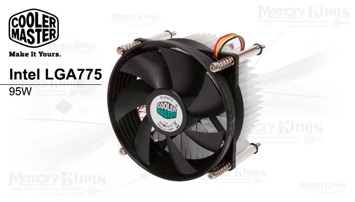 Cooler CPU COOLER Master Intel LGA775 95W, TIENDA DE COMPUTO PERU